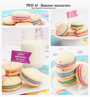 PSD #1 - Smmer macarons by Josii0803