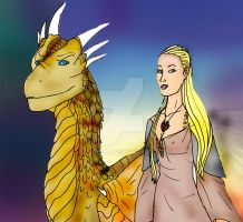 DH human and dragon Serafine by Selinelle