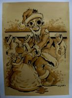 Zombie Santa in coffee by bigcas61