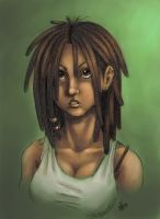 dreadlock girl by nocturnalMoTH