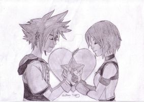 Sora and Kairi in love fin. by Tipster360