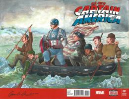 Captain America's Crossings of the Delaware River by GuanlinChen