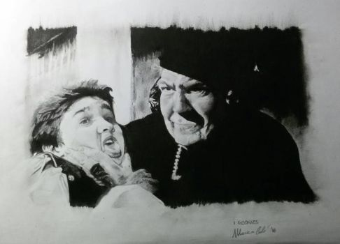 I Goonies portrait charcoal and graphite by Marco-Calo