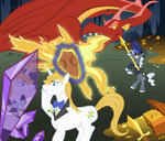 The Adventures of Prince Blueblood and Tombs by Gegenschein17