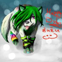 Happy B-day Zuzu!! C: by greenyswolf