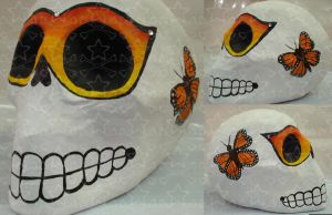 Butterflies skull by Candy27