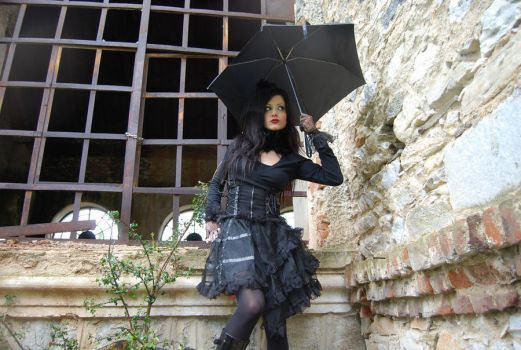 Gothic Girl5 by ftourini-stock
