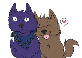Kouji and Taku wolfies : D by WolfieBites