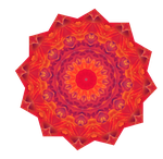Fall Leaves Mandala by Sulfura