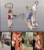 Egon and Lyhn Paperdoll Keychains by Bootsii