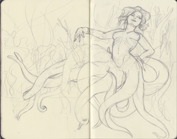 Octopus Woman WIP by SirChampagne