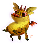 Day 552. Dave The Barbarian. Faffy by Cryptid-Creations
