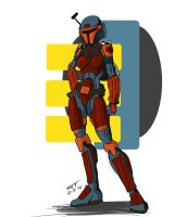 Female Mando by stourangeau
