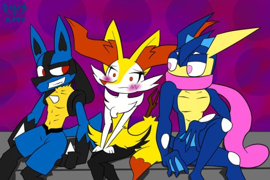 Choose Me (Lucario or Greninja x Braixen) ~ by KnightMoonlight98