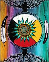 As Above So Below Painting - Acrylic on Canvas by andromeda