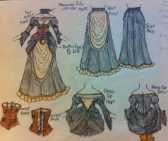 Steampunk Dress Design by ilovedarkhegehogs14