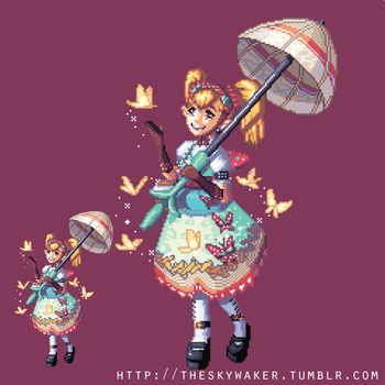 Pixel Agitha (1 8 2017) by theskywaker