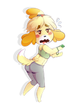 Isabelle's Wii by TheTartestBite