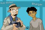 TGWTG Toonize-Rob and Bhargav by AndrewDickman