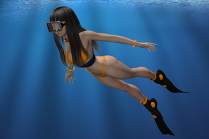 Deep Sea Hinata by Dangerboy3D