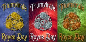 Triumvirate Trilogy - bookcovers by Wazaga
