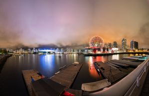 Vancouver at night by alierturk