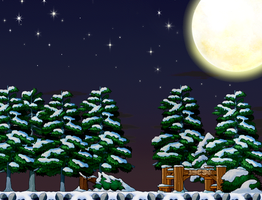 Frosty Night Custom Background by EightQueens