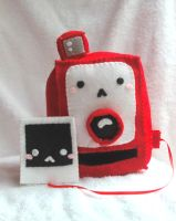 Polaroid Camera and Photo Plush by PinkChocolate14