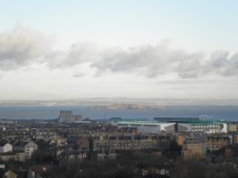 Cityscape Edinburgh 5 (from the hill) by Cippman