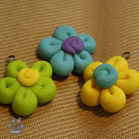 Flower charms by claymasey98