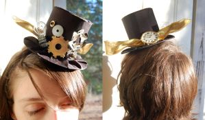 Mini Steampunk Tophat by littlecasaroo