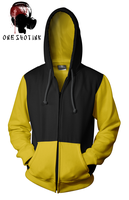 Yellow And Black Hoodie by karatealive