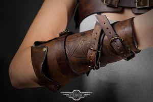 Steampunk pirate bracer by LahmatTea
