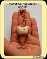 Pokemon Icecream Charm - Meowth by JazZMyusic