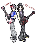 Chibi Zacky and Synyster by A7X-FC