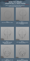 How to draw: DBZ male faces by Roxi-art