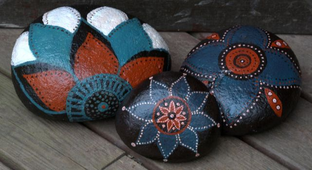 Painted stones for my garden by KatjaLammi