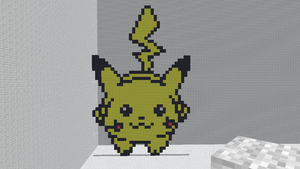 Minecraft - Pikachu by shadex00x