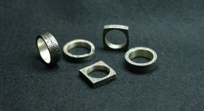 Series of rings ''From scrap to glory'' by Daffy666