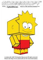 Cubeecraft - Lisa Simpson by CyberDrone