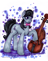 Beautiful musician by MadBlackie