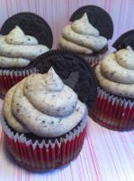 Oreo Cupcakes by Corpse-Queen