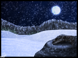 Solitude in the Snow by TheWolvenAngel