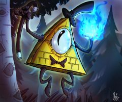 Bill Cipher by LadyWitchfox