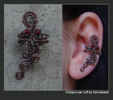 Octopus ear cuff by bodaszilvia