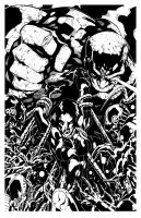 Wicked Angel Cover inked by gz12wk