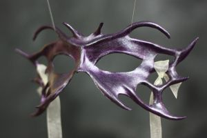 Purple Iridescent Fairy Mask by rjoart