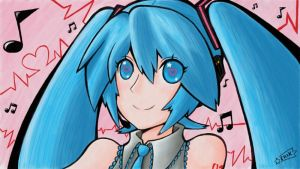 Hatsune Miku Portrait by SuperEriX