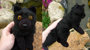 Black wolf - small floppy by goiku