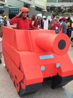 Large Tank unit from Advanced Wars at AX 2011 by trivto